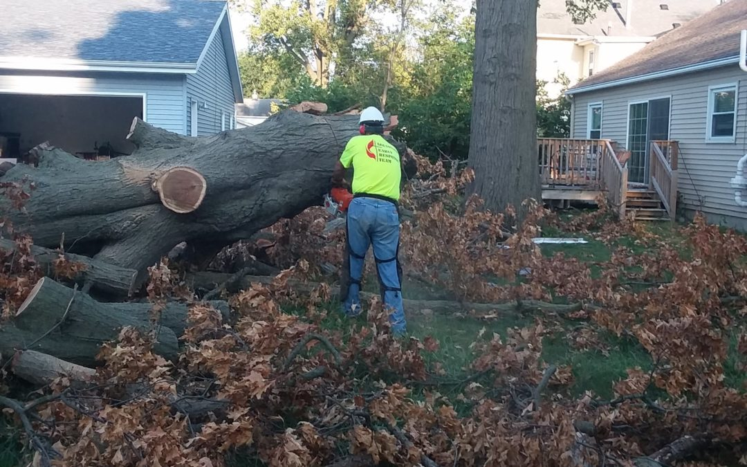 Coalition of Conference Disaster Response Teams Help Derecho Cleanup in Iowa