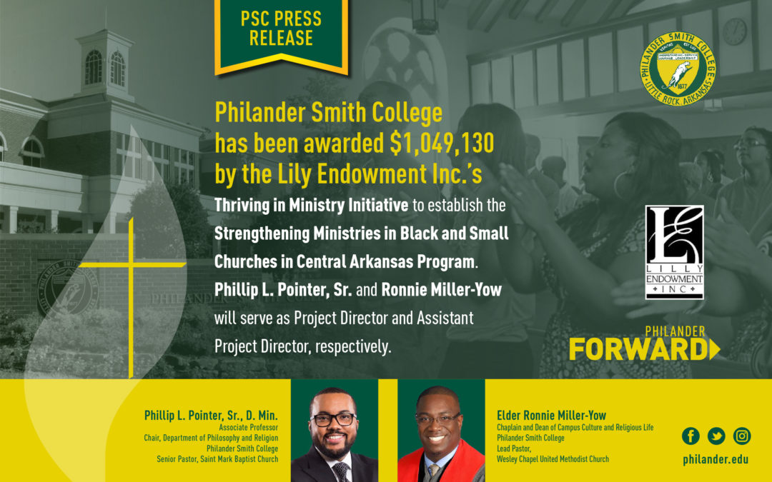 Lilly Endowment Invests $1M in Philander Smith College to Strengthen Ministries in Black and Small Churches