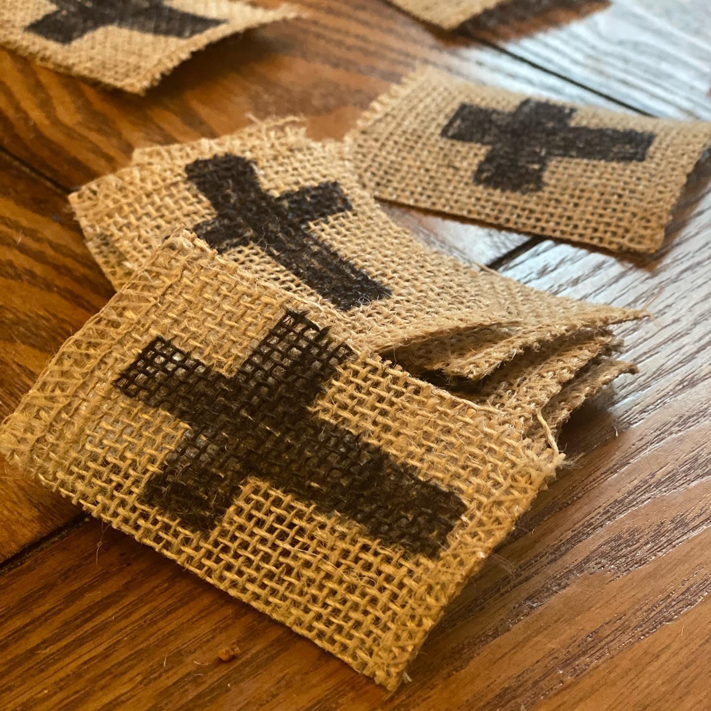 burlap cross
